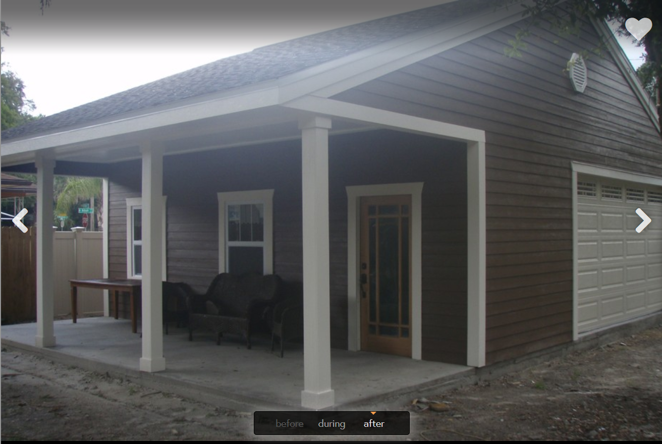 Awesome garage porch advice for Porch garage