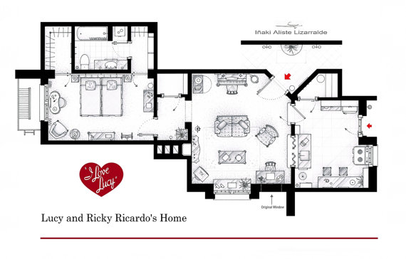 I Want To Live There! Floorplans From Famous TV Shows