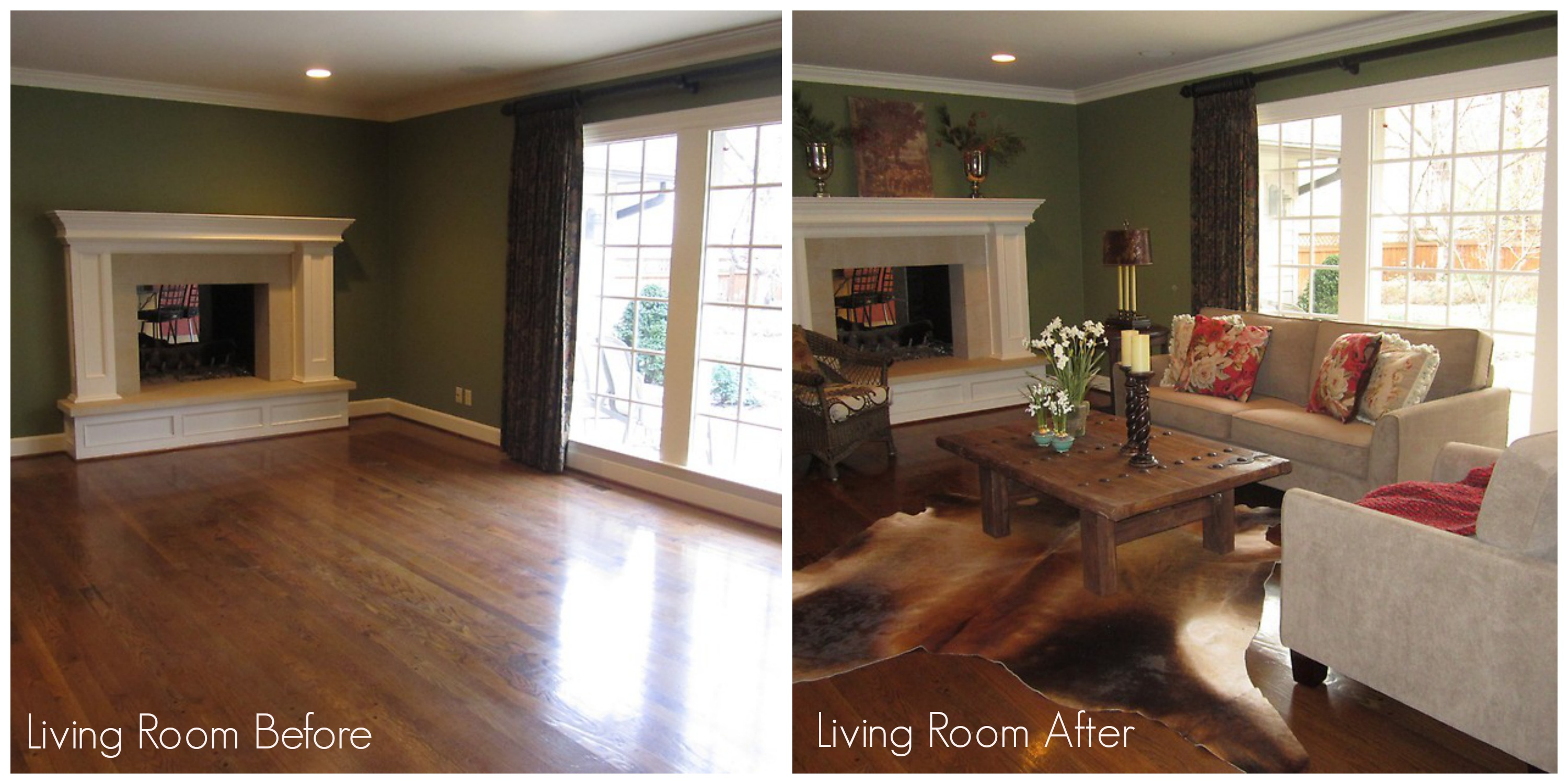 living room before and after staging - Home Staged Designs