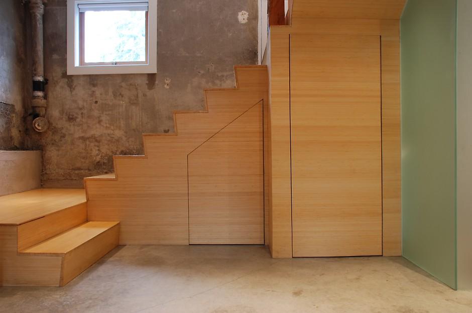 under stair wine cellar