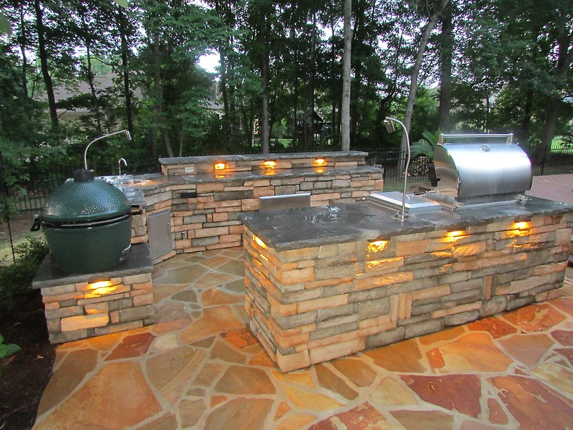 7 tips for designing the best outdoor kitchen porch advice webster landscaping outdoor kitchen aloadofball Choice Image