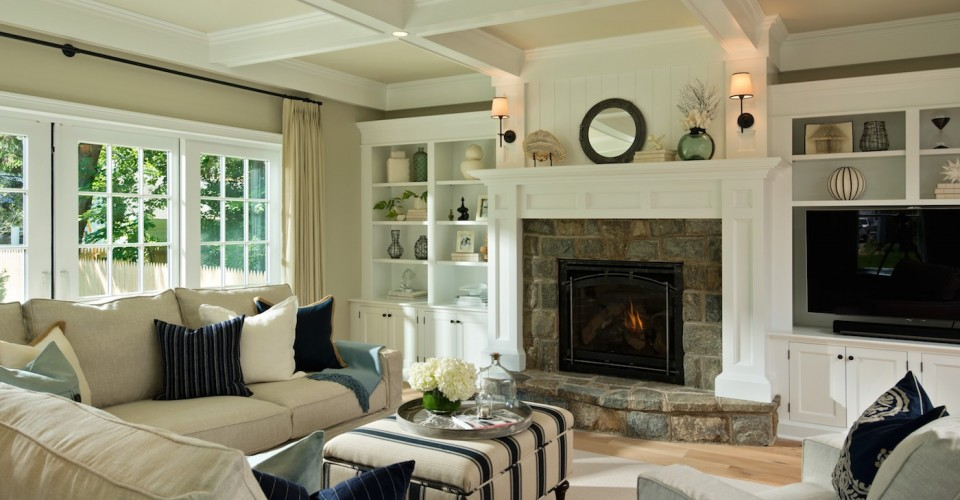 Creating a transitional style living room - Transitional style living room ...