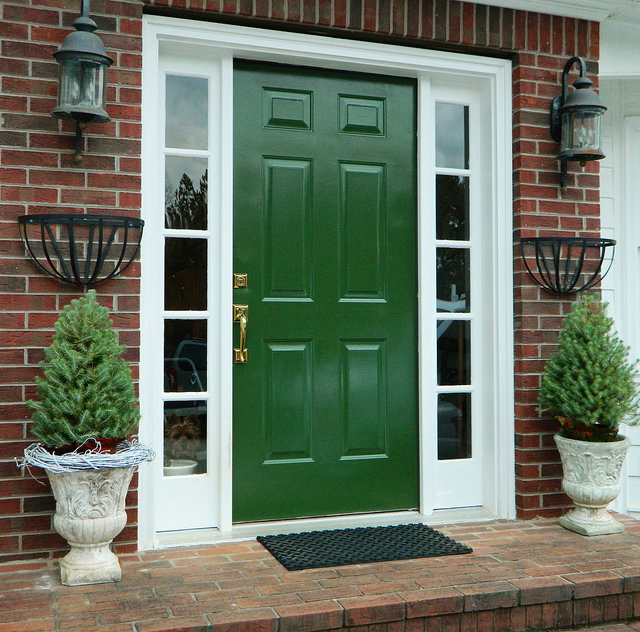 What does the color of your front door say about you Dark green front door paint