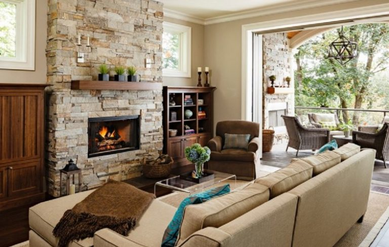 image credit jenni leasia - Decorating Ideas For Living Rooms With Fireplaces