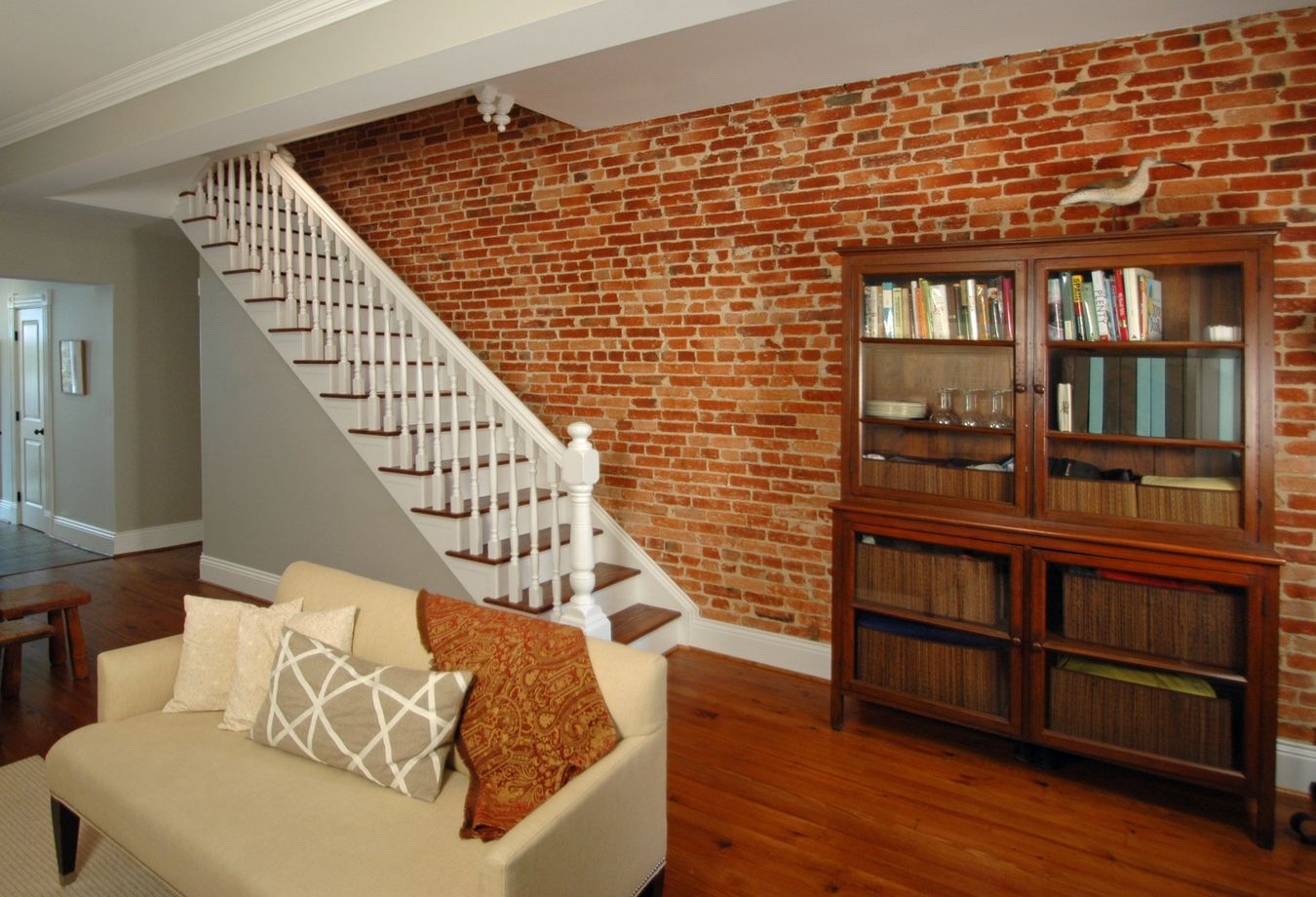 Wall Design Build Inc : Classy interiors with exposed brick porch advice