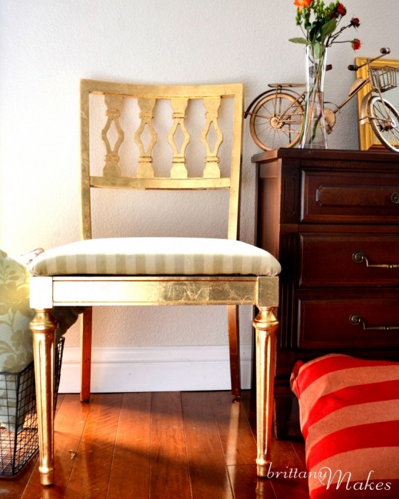 Brittany Makes - Gilded Chair