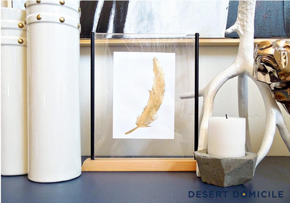 Desert Domicile - Gold Feather Print