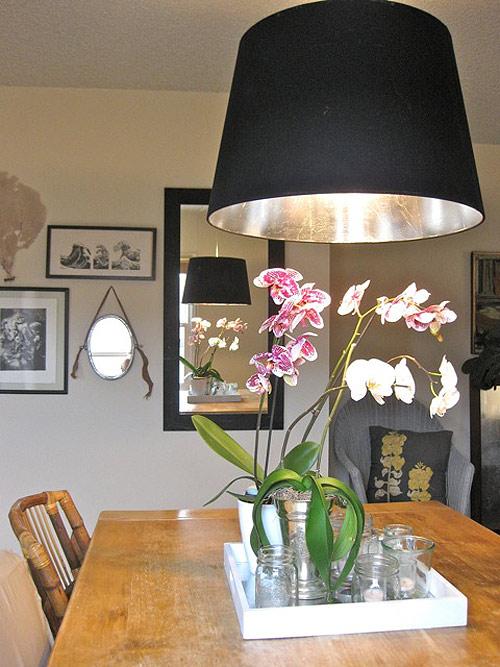 Design*Sponge - silver leaf lampshade