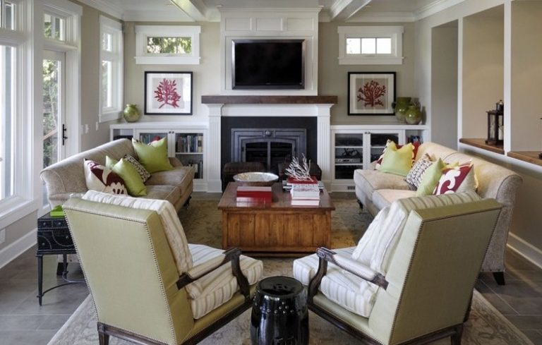 7 Ways To Arrange A Living Room With Fireplace Porch Advice