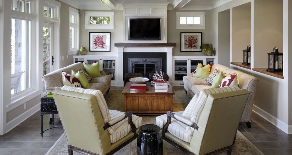 7 ways to arrange a living room with a fireplace - App for arranging furniture in a room ...