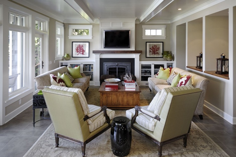 7 Ways To Arrange A Living Room With A Fireplace - Porch Advice