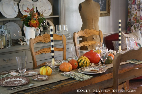 Holly Mathis Interiors - Stripes and Pumpkins