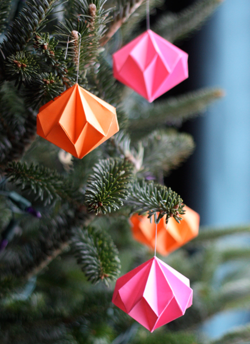 How About Orange - Paper Diamond Origami Ornaments
