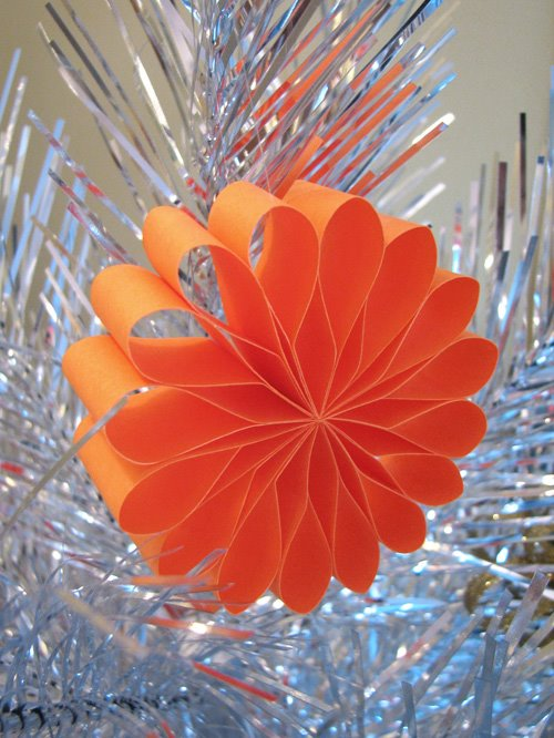 How About Orange - paper starburst ornament