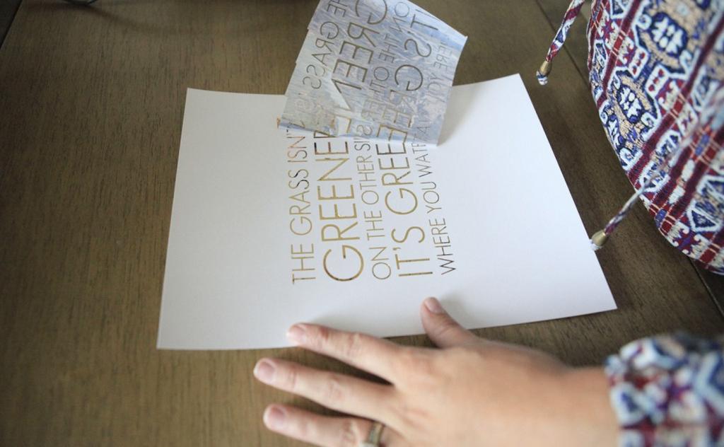 Jenny Collier - Gold Foil Qute Print