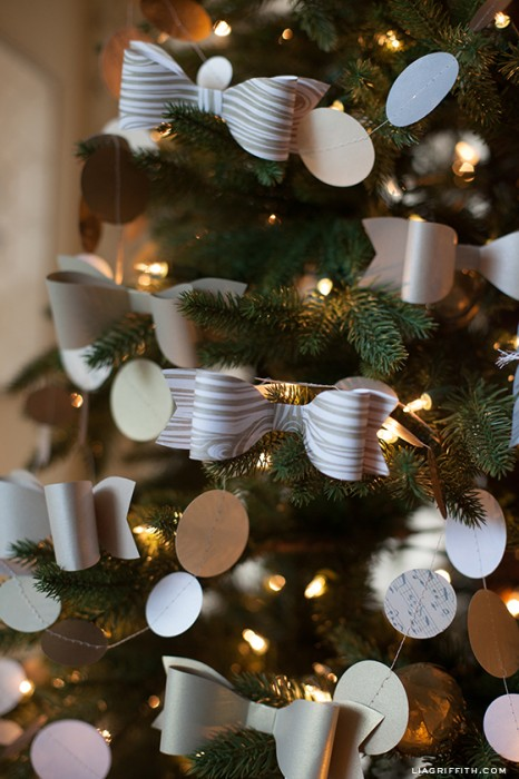 Lia Griffith - Paper Bow Ornaments
