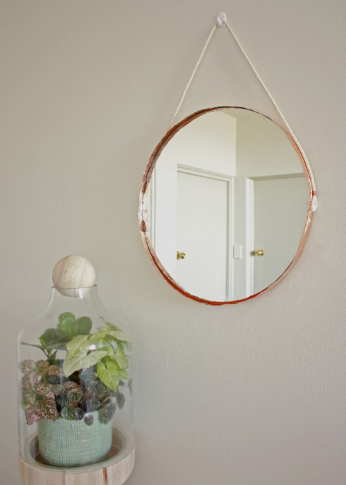 Makers Society - Copper-Edged Mirror