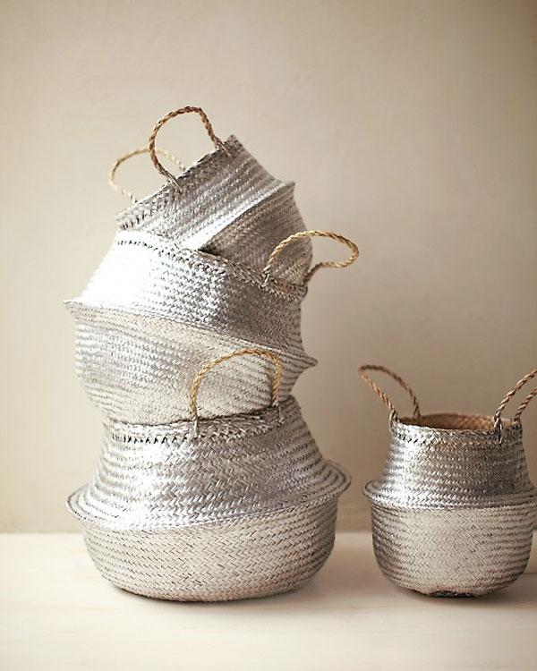 Martha Stewart Living - Silver Straw Baskets