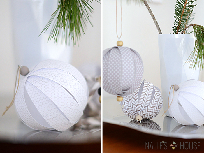 Nalle's House - Paper Ball Ornaments 2