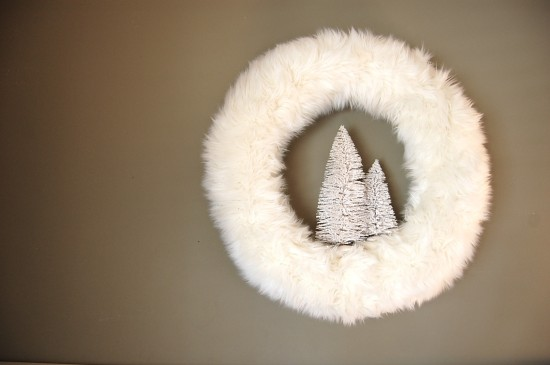 Nesting Place - Fur Wreath