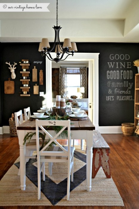 18 walls you should chalkboard paint porch advice for Kitchen and dining room wall decor