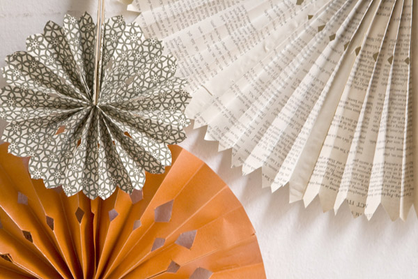 Ruffled - Paper Pinwheel Ornaments