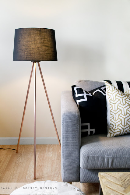 Sarah M. Dorsey Designs - Copper Tripod Lamp