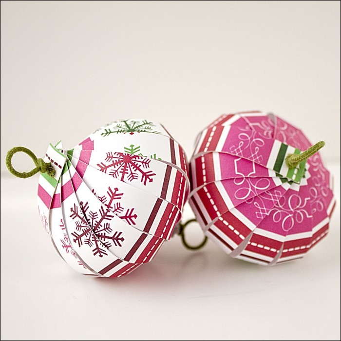 The Crafty Sisters - Scrapbook Paper Ornaments