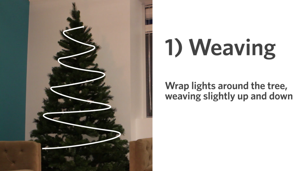 1weaving - Best Way To String Lights On A Christmas Tree