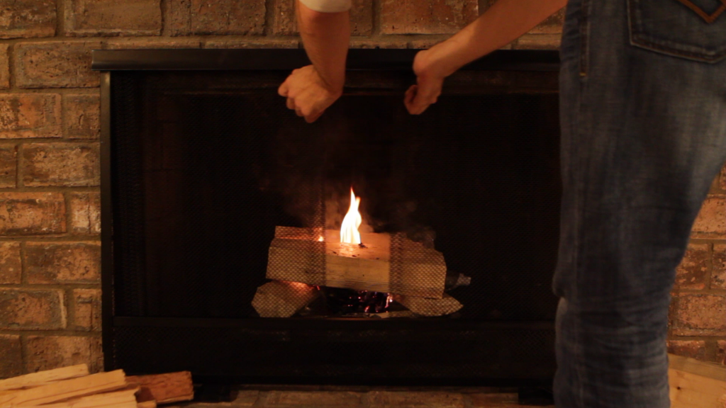 how to put out fire in fireplace before bed