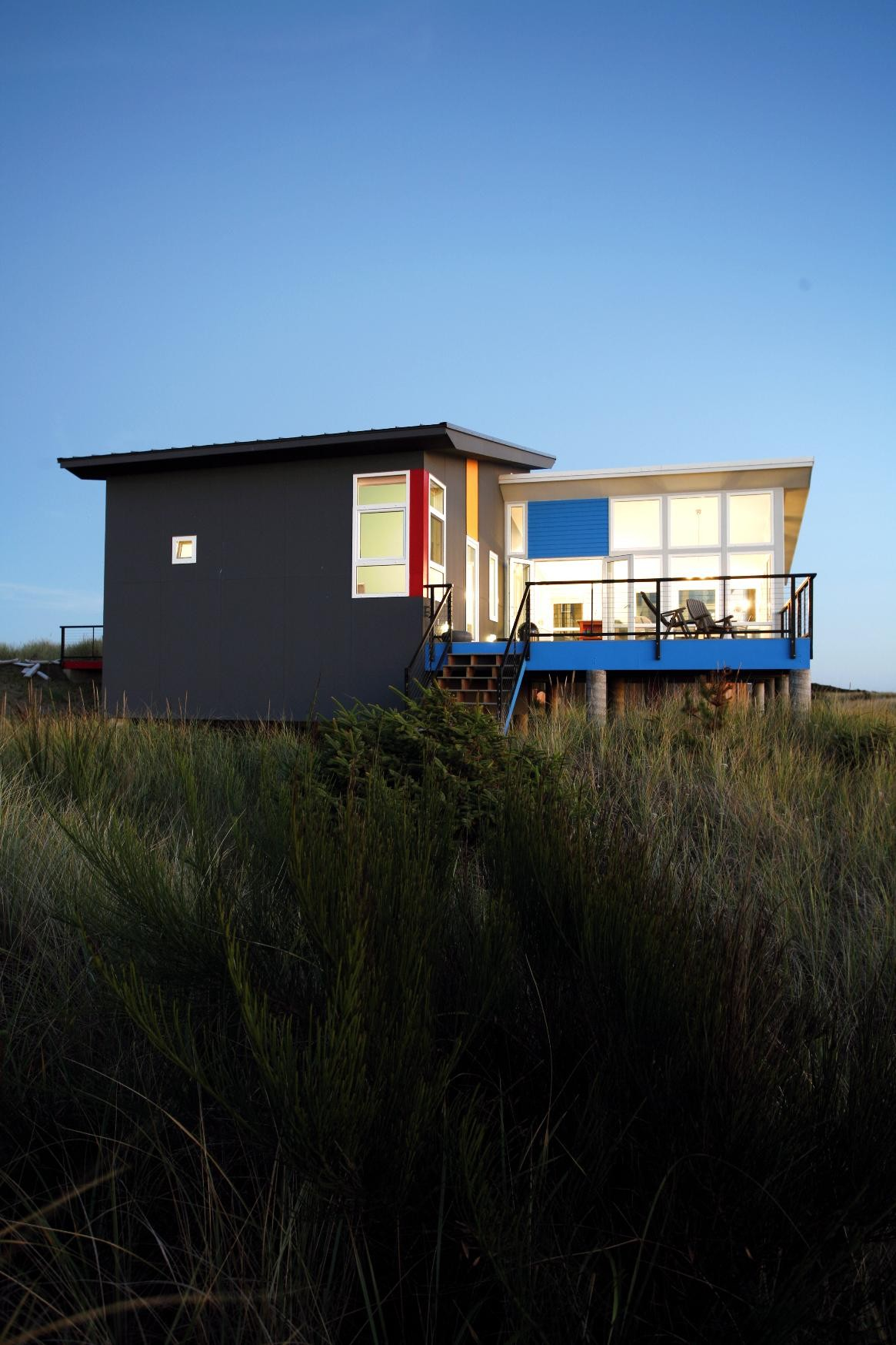 House envy a coastal getaway with stunning views porch for Coastal contemporary