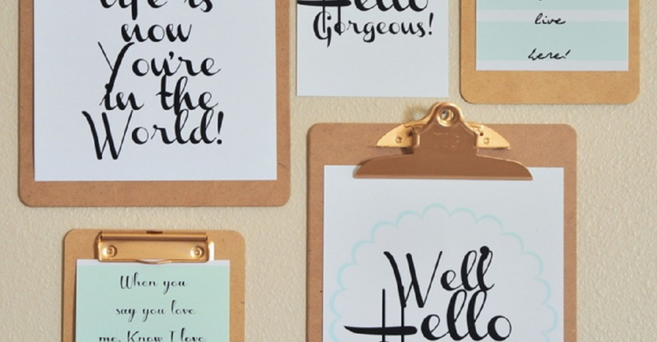 15 free wall art printables to start off the new year