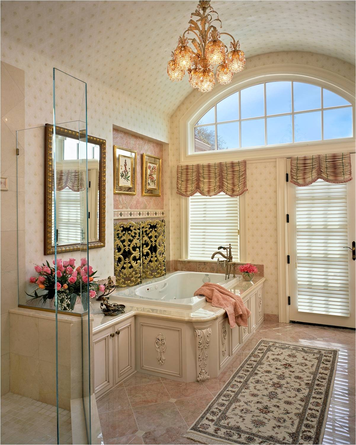 7 beautiful bathrooms that are anything but modern porch for Romantic master bathroom