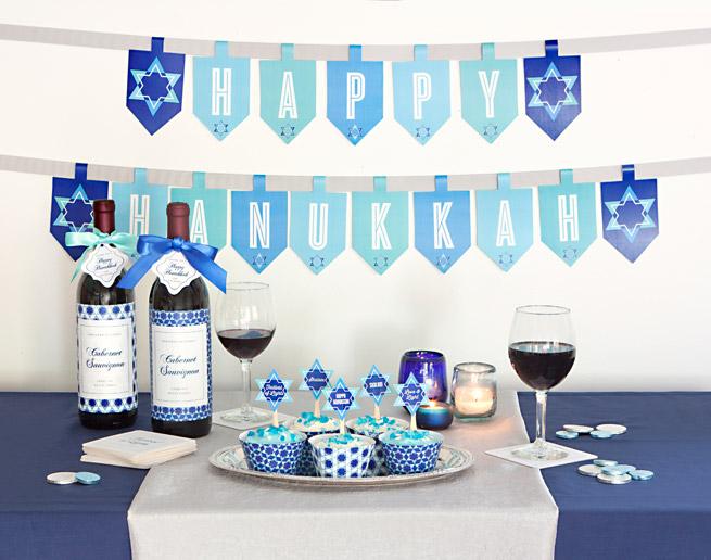 evermine blog printable hanukkah banner - Hanukkah Decorations