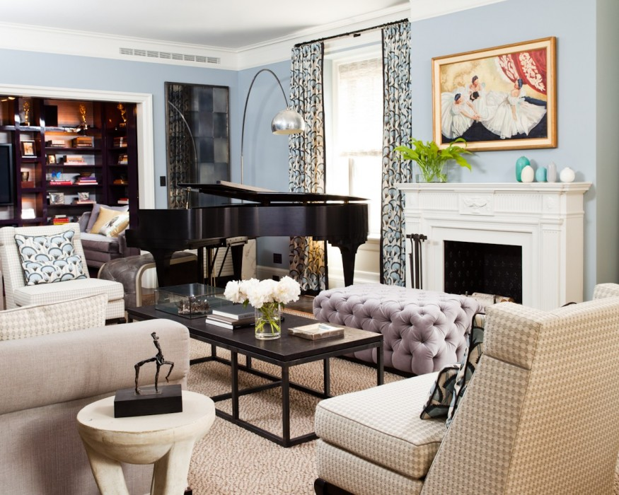 19 piano rooms that bring music to your home porch advice for Piano room decor
