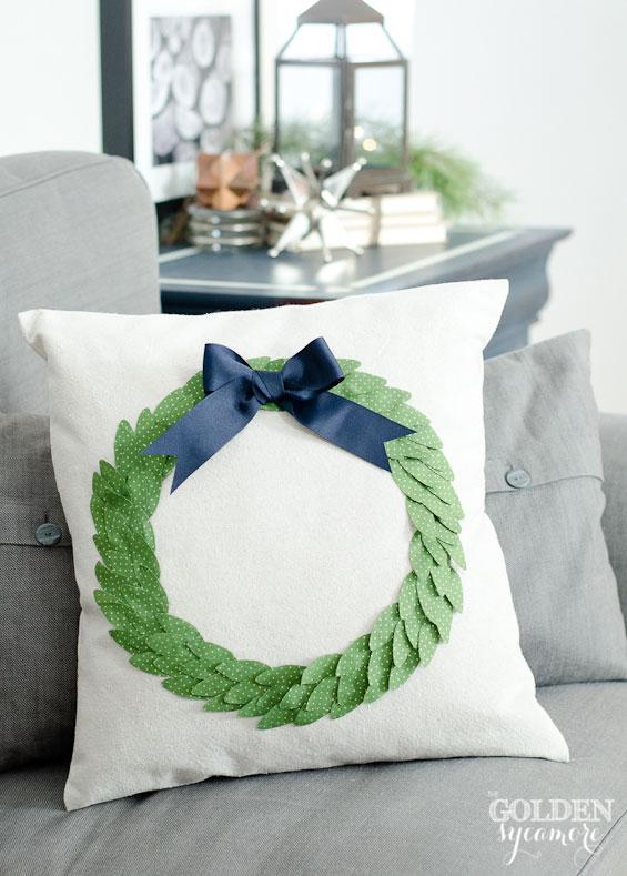 Golden Syacamore - Wreath Pillow