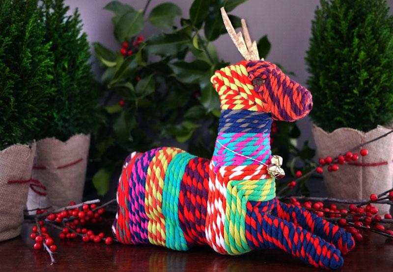 Honestly WTF - rainbow chindi reindeer