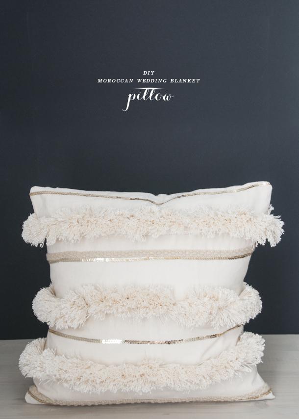 House of Earnest - DIY Moroccan Wedding Blanket Pillow