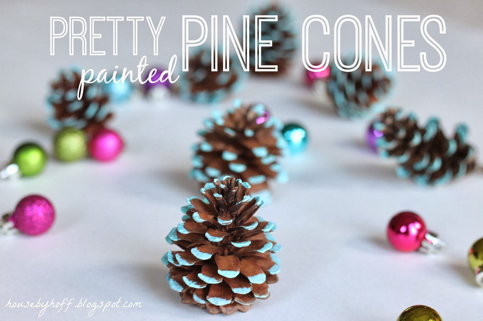 House of Hoff - Pretty Painted Pine Cones