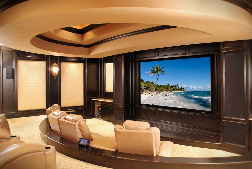 11 ultra luxe home movie theaters you have to see to believe. Black Bedroom Furniture Sets. Home Design Ideas