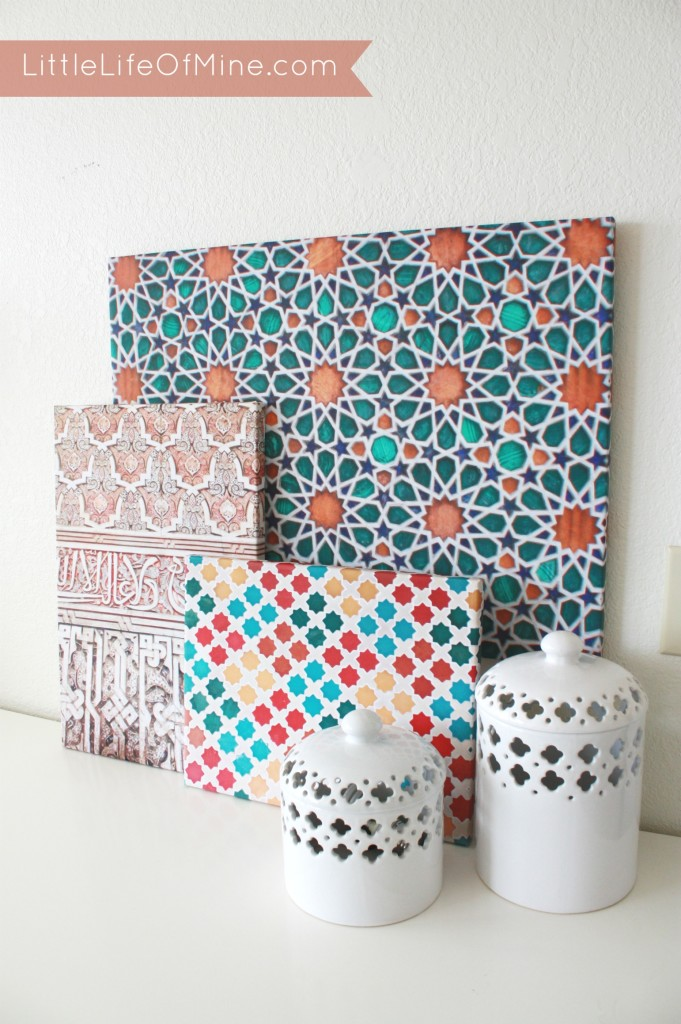 Little Life of Mine - DIY Colorful Moroccan Pattern Canvases