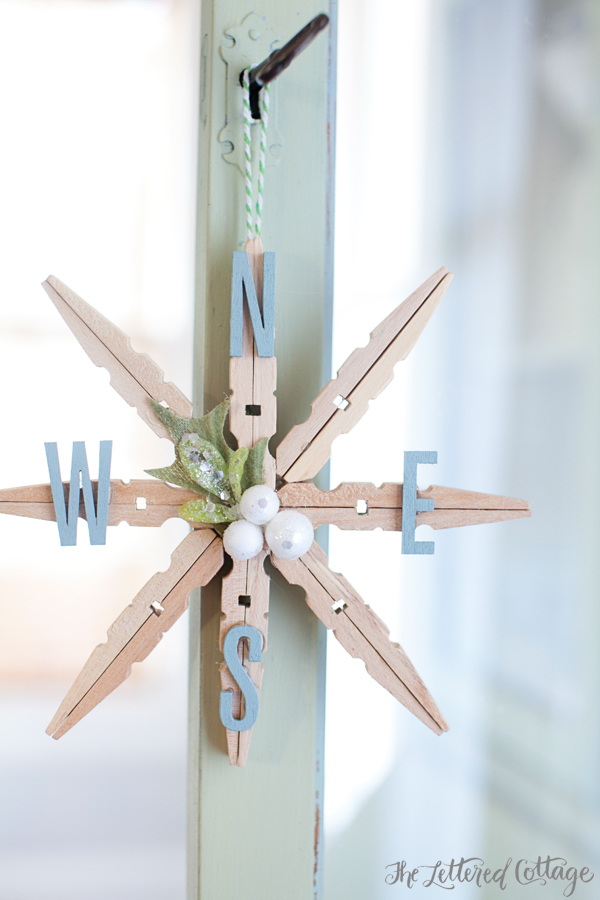 The Lettered Cottage - Clothespin Snowflake