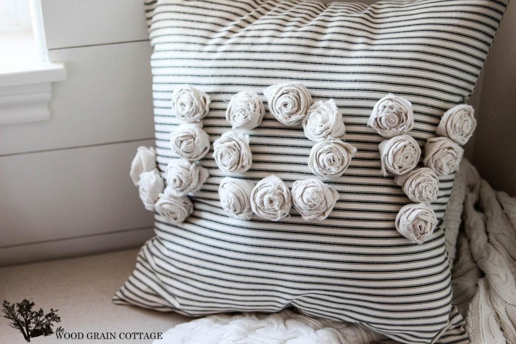 The Wood Grain Cottage - Joy Rosettes Pillow