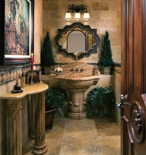 7 beautiful bathrooms that are anything but modern porch for Baroque style bathroom