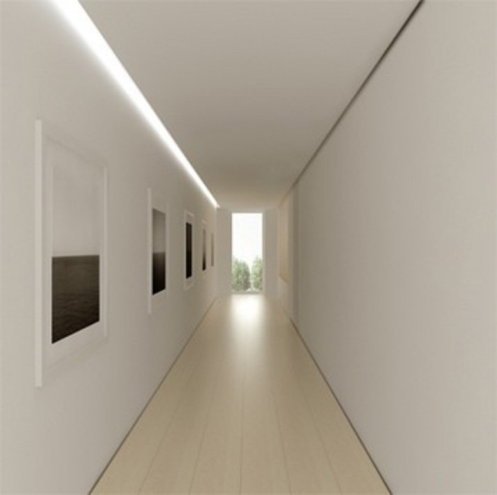 How should i decorate my long narrow hallway porch advice for Hallway wall decor
