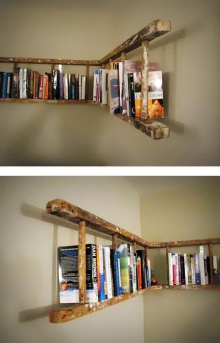 Ladder Shelf Pinterest via Buzzfeed