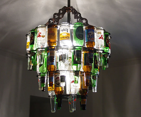 CoolMaterial - beer chandelier