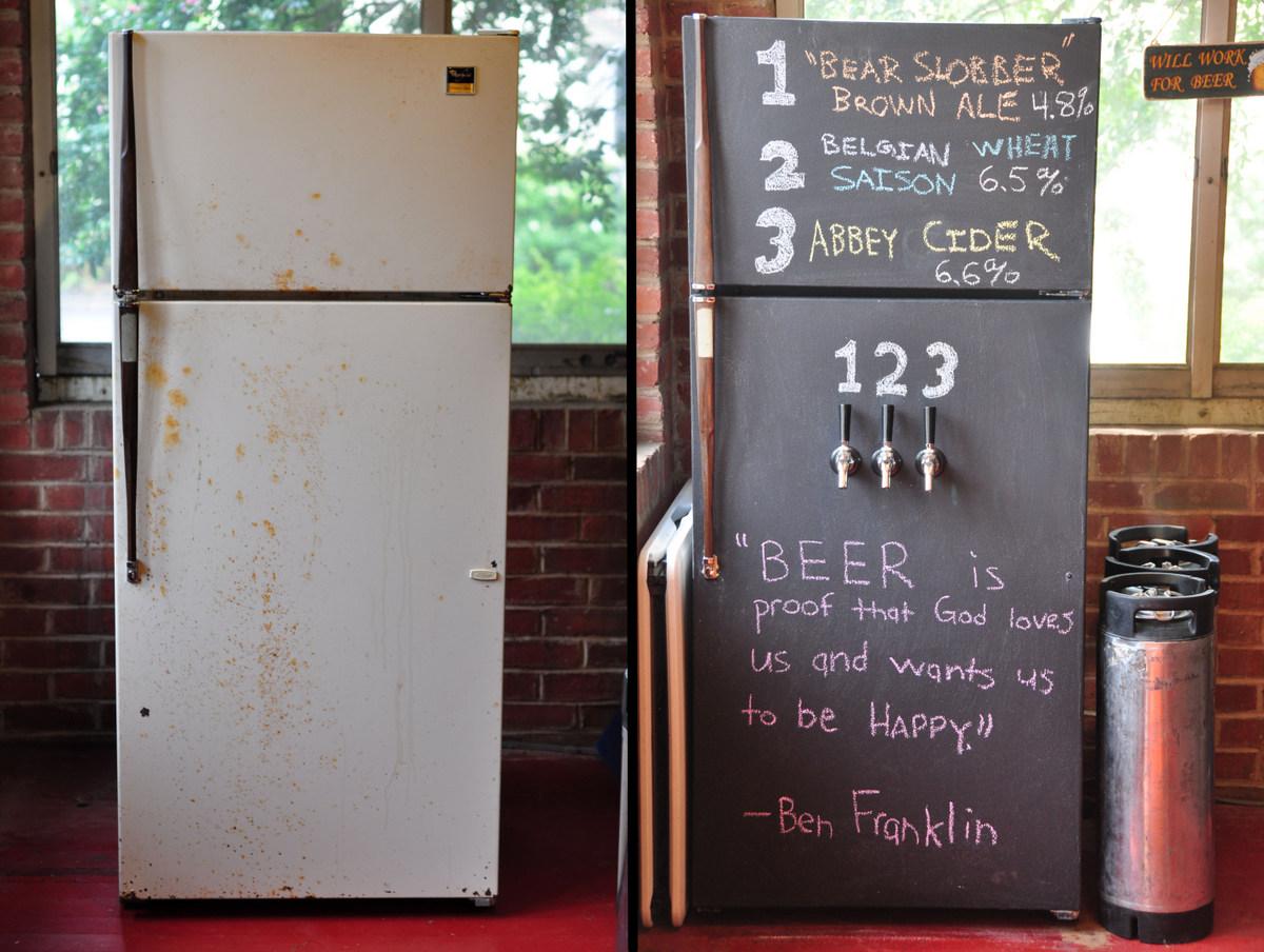 Imgur - chalkboard tap fridge