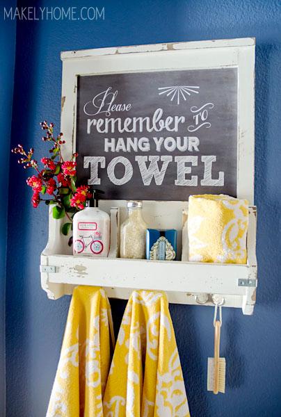 Makely School for Girls - Chalkboard Towel Rack