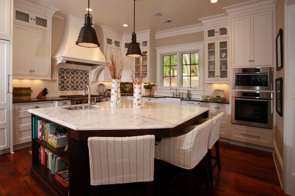 Nandina Home & Design Atlanta White and Brown Kitchen